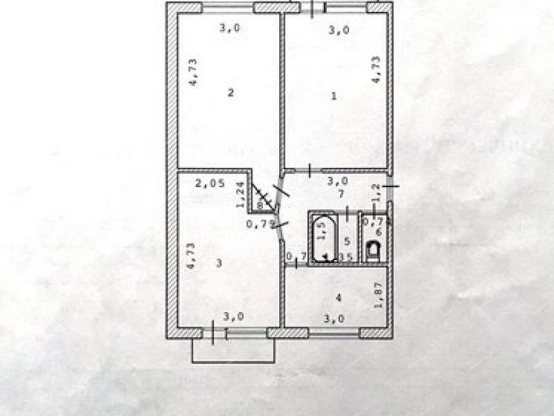трёхкомнатная квартира на Генерала Маргелова улица дом 66 деревня Истомино