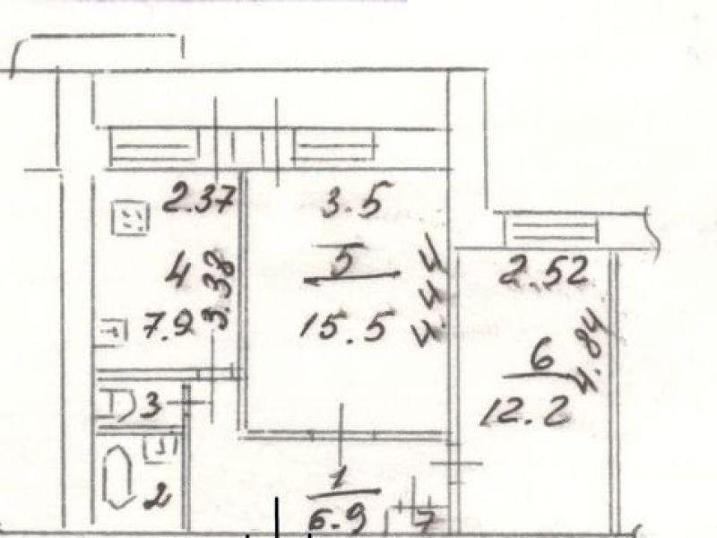 двухкомнатная квартира на улице Будённого дом 23 город Дзержинск