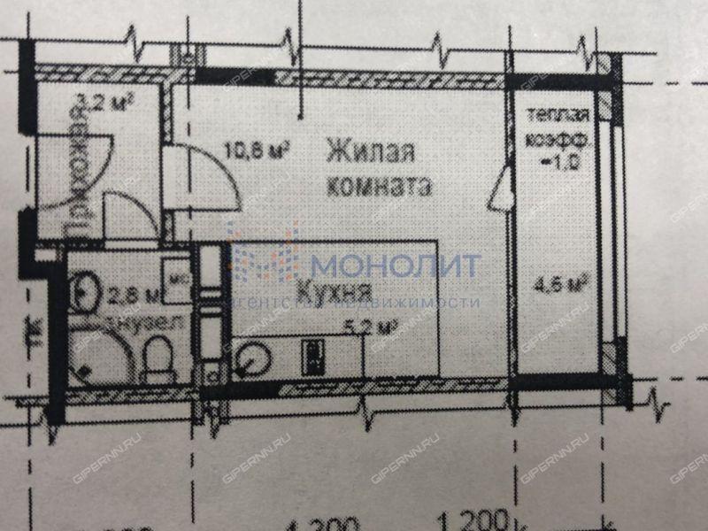 квартира-студия в новостройке на улице Романтиков дом 7