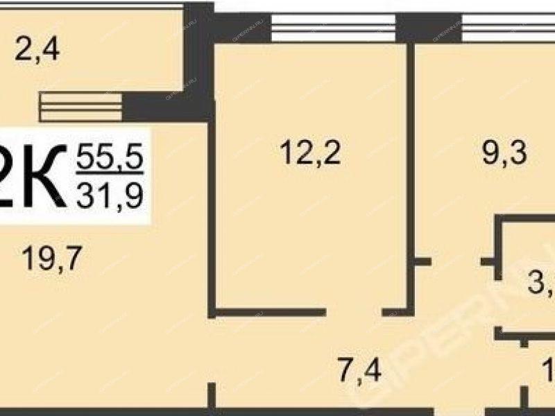 двухкомнатная квартира на улице Литературная дом 6а