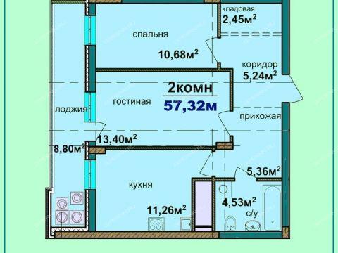 2-komnatnaya-v-granicah-ulic-lobachevskogo-kommuny-ciolkovskogo-dom-n3 фото