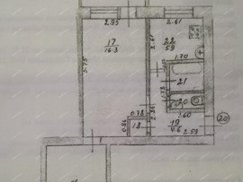 двухкомнатная квартира на улице Фурманова дом 1 город Городец