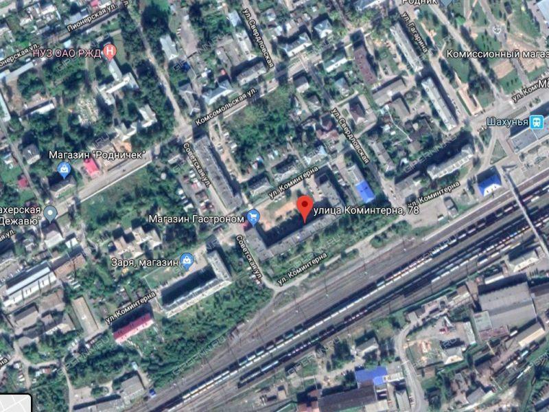двухкомнатная квартира на улице Коминтерна дом 78 город Шахунья